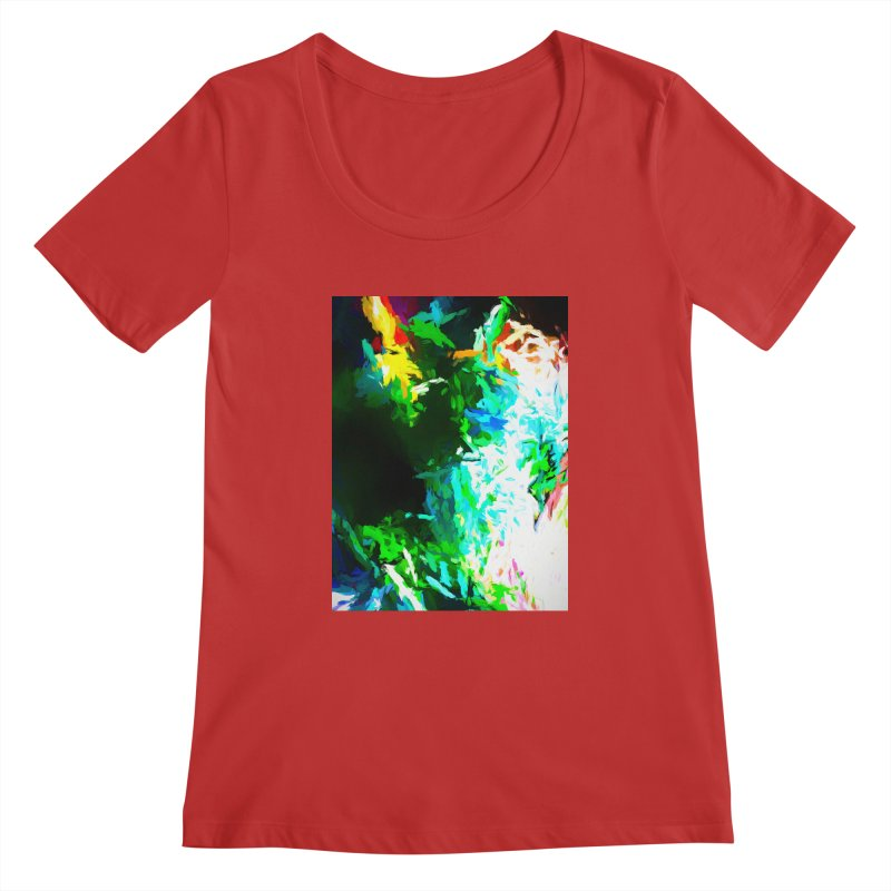 Abyss at the End of the Rainbow Women's Regular Scoop Neck by jackievano's Artist Shop