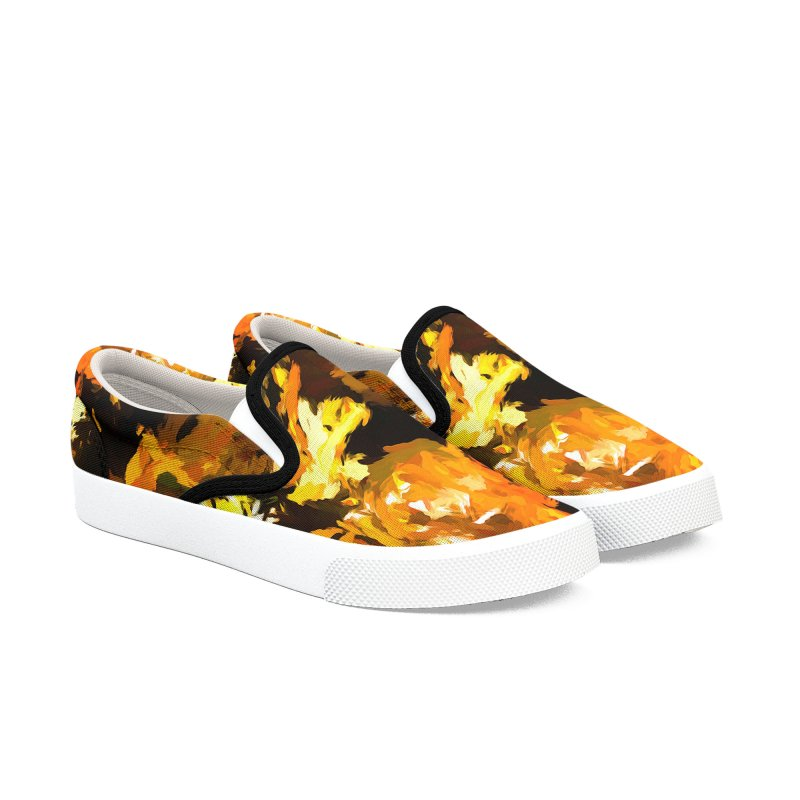 Shouting Man Men's Slip-On Shoes by jackievano's Artist Shop