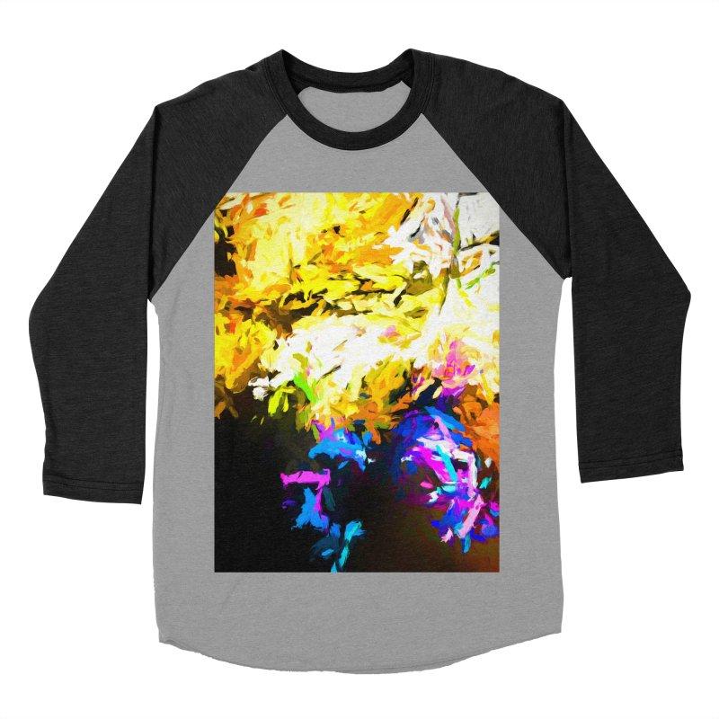 Hidden Evil Smile Men's Baseball Triblend Longsleeve T-Shirt by jackievano's Artist Shop