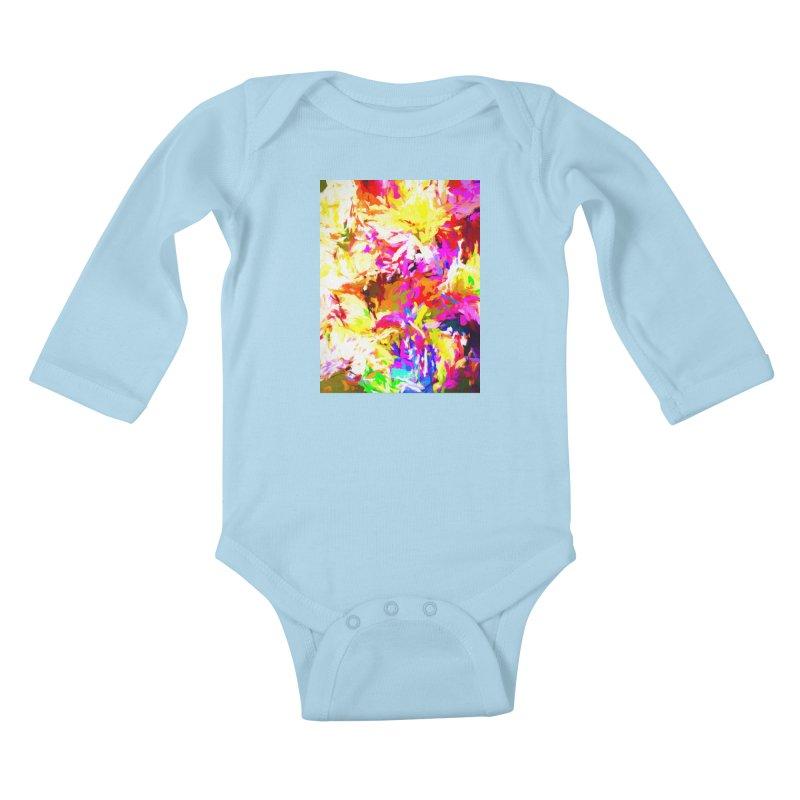 Hot Gargoyle Melting Beneath the Scorching Sun Kids Baby Longsleeve Bodysuit by jackievano's Artist Shop
