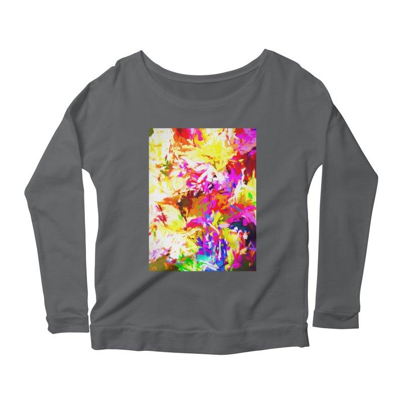 Hot Gargoyle Melting Beneath the Scorching Sun Women's Scoop Neck Longsleeve T-Shirt by jackievano's Artist Shop