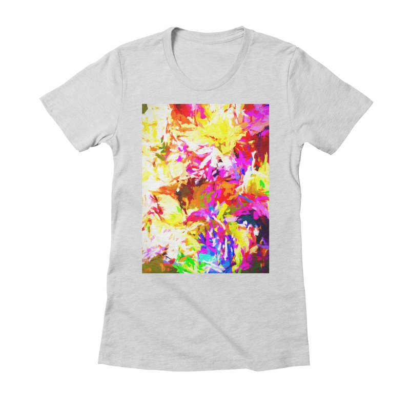 Hot Gargoyle Melting Beneath the Scorching Sun Women's Fitted T-Shirt by jackievano's Artist Shop