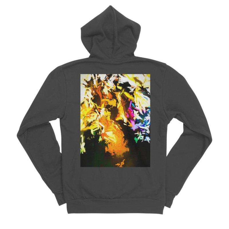 Orange Man Bird Beak Women's Sponge Fleece Zip-Up Hoody by jackievano's Artist Shop