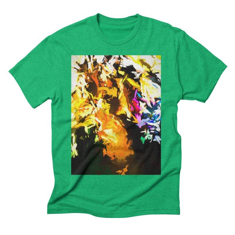 Orange Man Bird Beak Men's Triblend T-Shirt by jackievano's Artist Shop