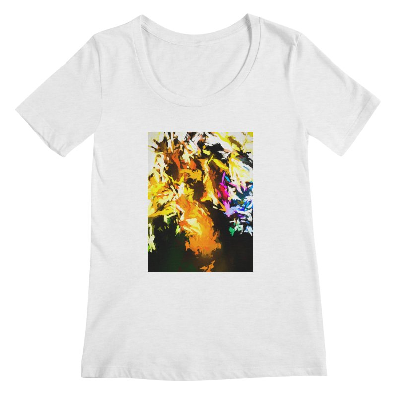 Orange Man Bird Beak Women's Regular Scoop Neck by jackievano's Artist Shop