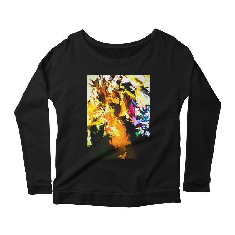 Orange Man Bird Beak Women's Scoop Neck Longsleeve T-Shirt by jackievano's Artist Shop