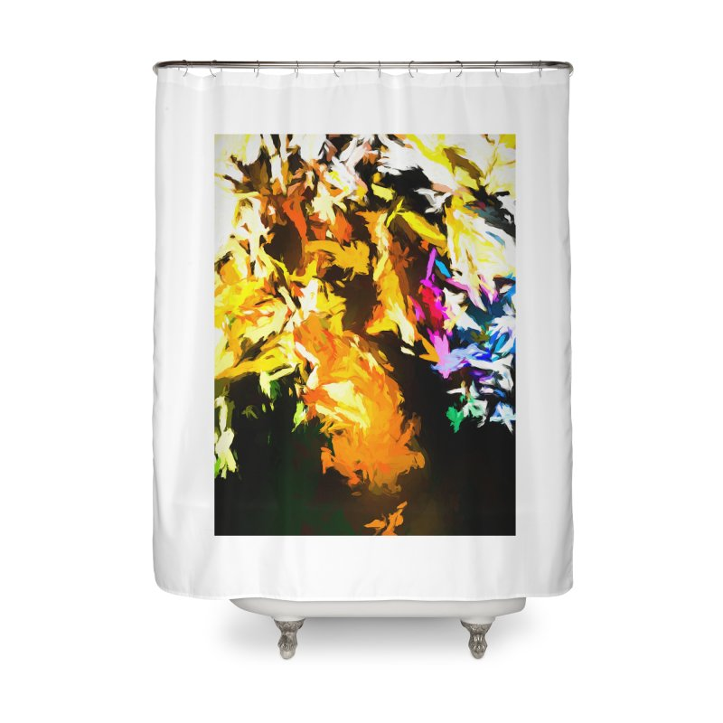 Orange Man Bird Beak Home Shower Curtain by jackievano's Artist Shop