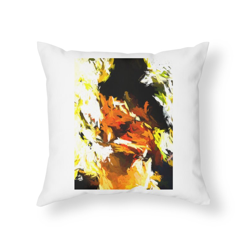 Cathartic Scream of the Sleepless Self Home Throw Pillow by jackievano's Artist Shop