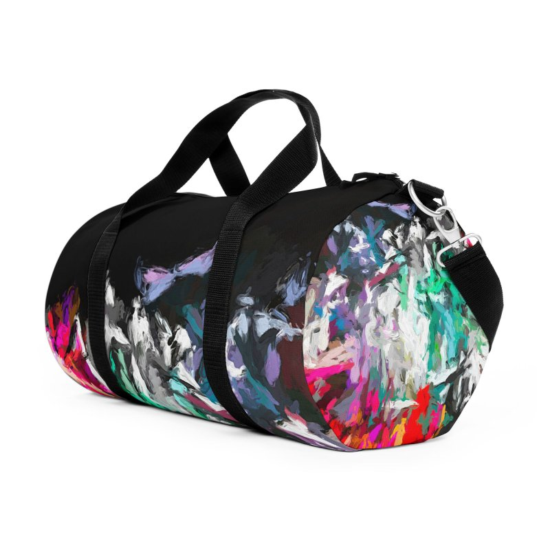 Turmoil and Torment in the Hot City 1 Accessories Duffel Bag Bag by jackievano's Artist Shop