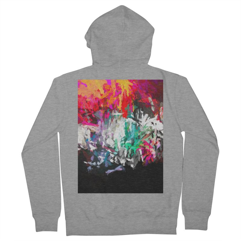 Turmoil and Torment in the Hot City 1 Men's French Terry Zip-Up Hoody by jackievano's Artist Shop