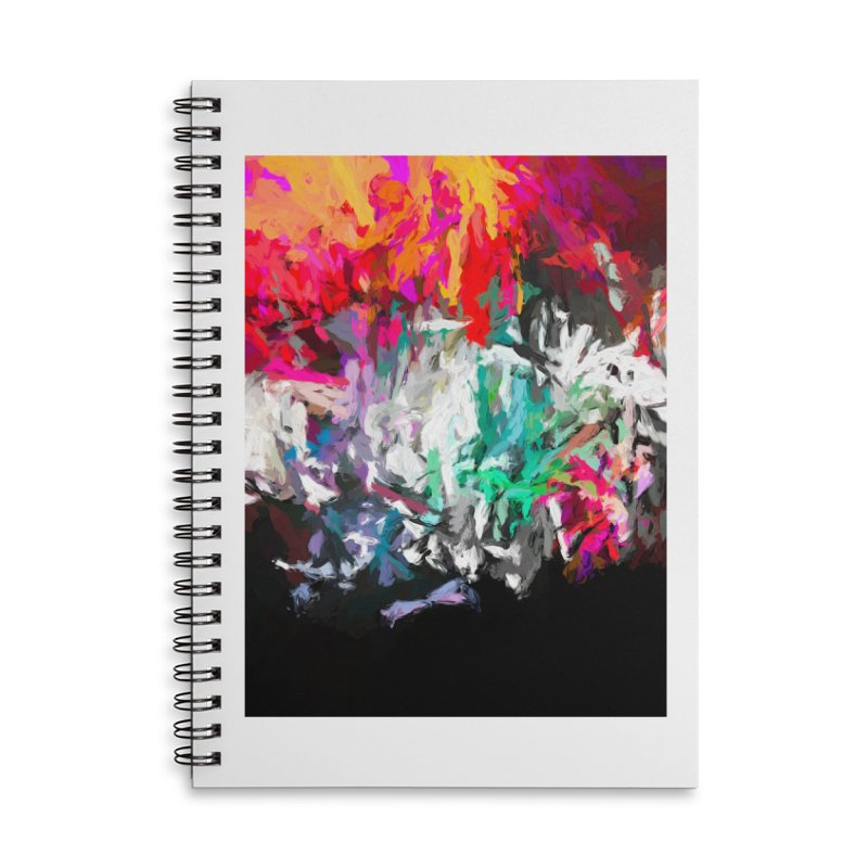 Turmoil and Torment in the Hot City 1 Accessories Lined Spiral Notebook by jackievano's Artist Shop