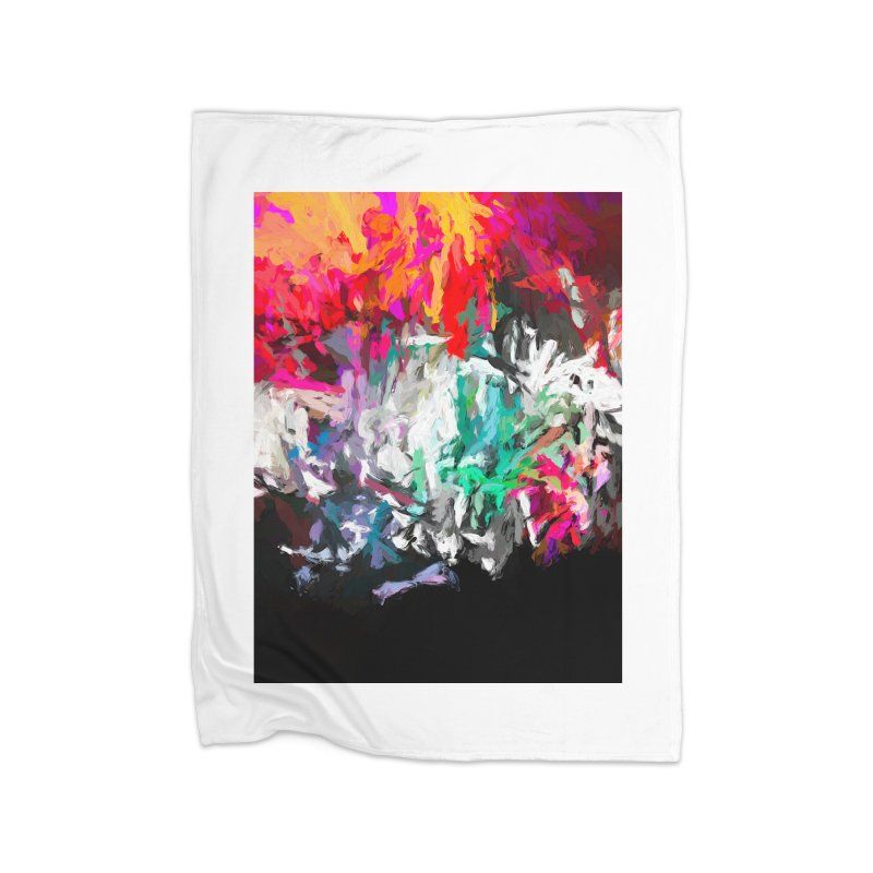 Turmoil and Torment in the Hot City 1 Home Fleece Blanket Blanket by jackievano's Artist Shop