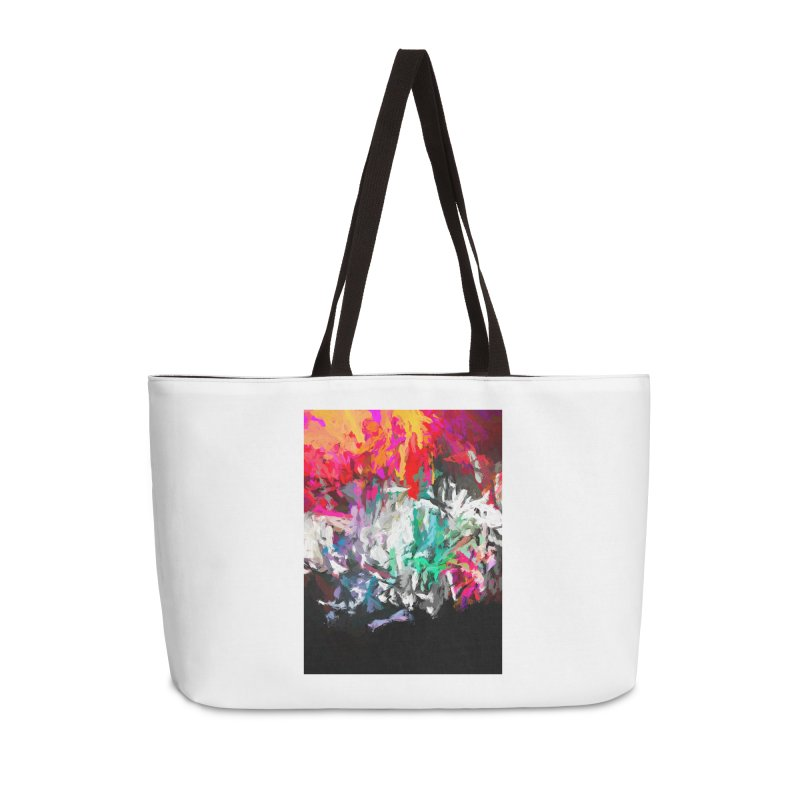 Turmoil and Torment in the Hot City 1 Accessories Weekender Bag Bag by jackievano's Artist Shop