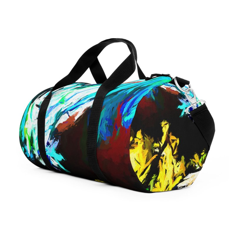Yellow Cow Accessories Duffel Bag Bag by jackievano's Artist Shop