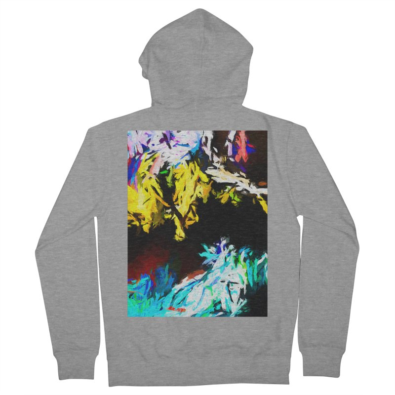 Yellow Cow Men's French Terry Zip-Up Hoody by jackievano's Artist Shop