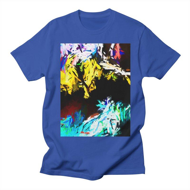Yellow Cow Men's Regular T-Shirt by jackievano's Artist Shop