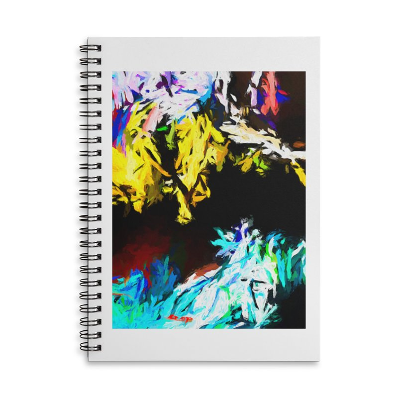 Yellow Cow Accessories Lined Spiral Notebook by jackievano's Artist Shop