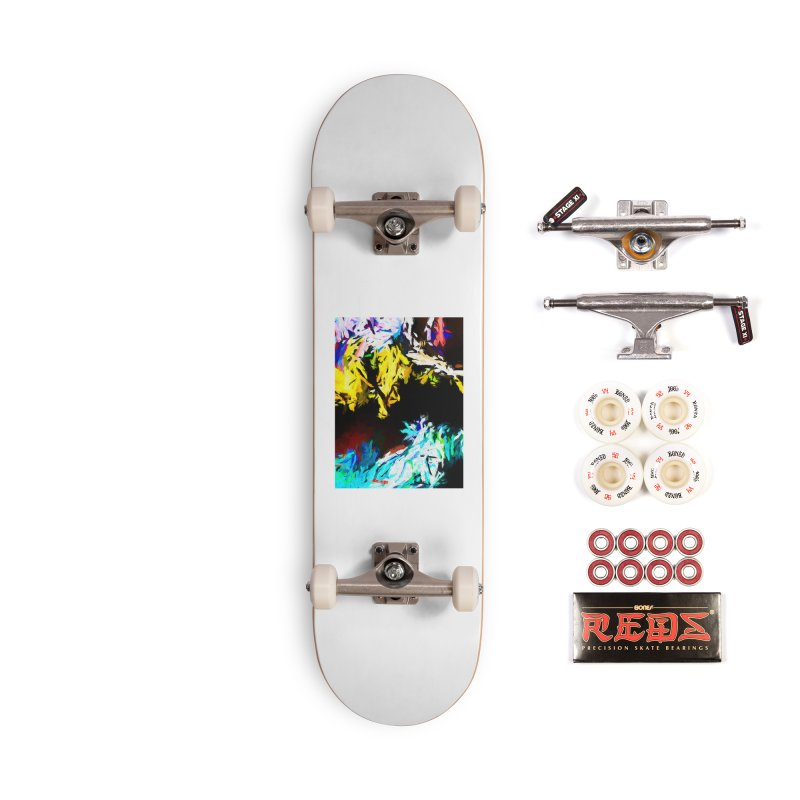 Yellow Cow Accessories Complete - Pro Skateboard by jackievano's Artist Shop