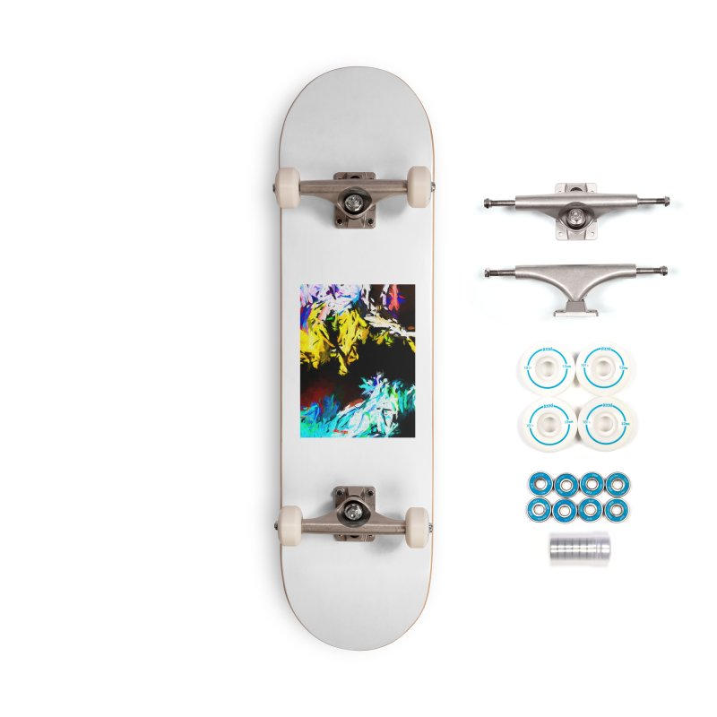 Yellow Cow Accessories Complete - Basic Skateboard by jackievano's Artist Shop