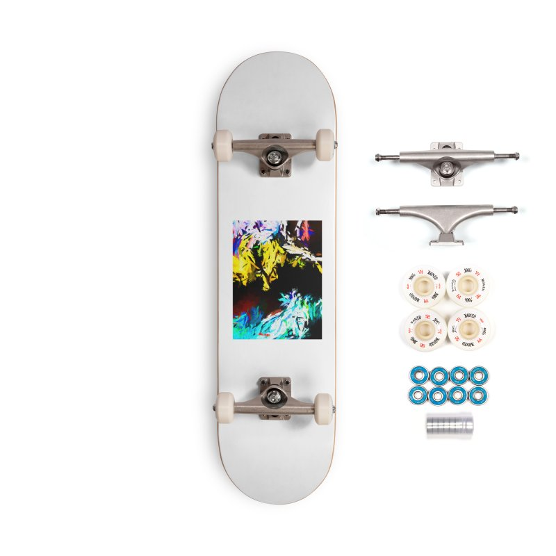 Yellow Cow Accessories Complete - Premium Skateboard by jackievano's Artist Shop