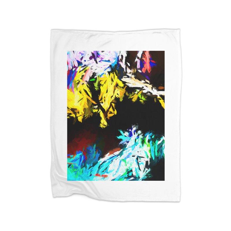 Yellow Cow Home Fleece Blanket Blanket by jackievano's Artist Shop