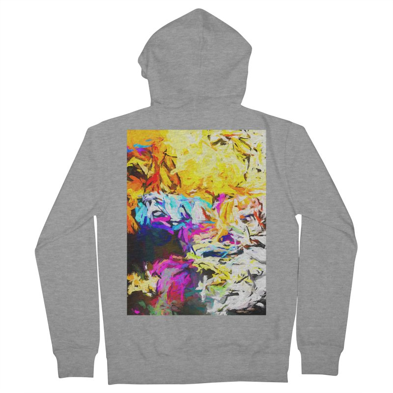 Salamander Smile Men's French Terry Zip-Up Hoody by jackievano's Artist Shop