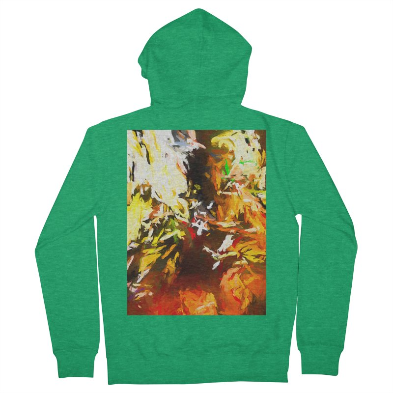 Sad Avalanche Men's French Terry Zip-Up Hoody by jackievano's Artist Shop