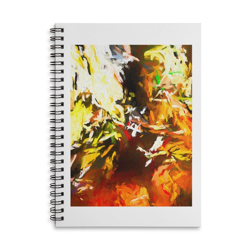 Sad Avalanche Accessories Lined Spiral Notebook by jackievano's Artist Shop