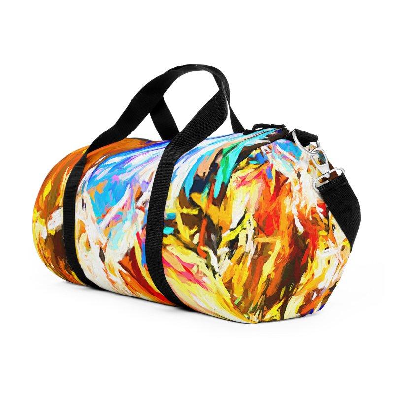 Tsunami Lion Accessories Duffel Bag Bag by jackievano's Artist Shop