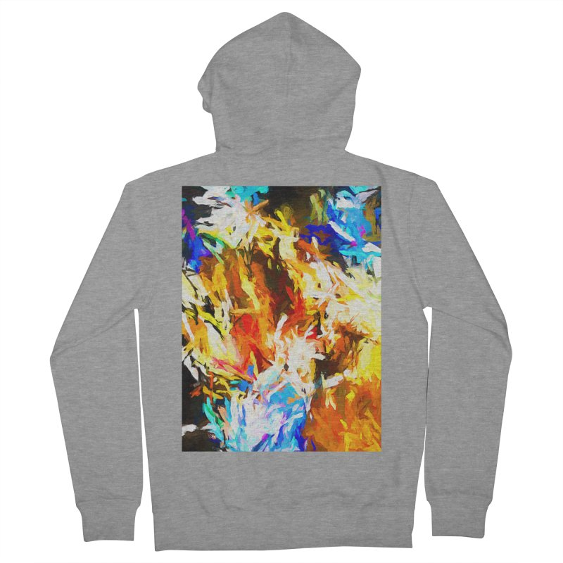 Tsunami Lion Men's French Terry Zip-Up Hoody by jackievano's Artist Shop