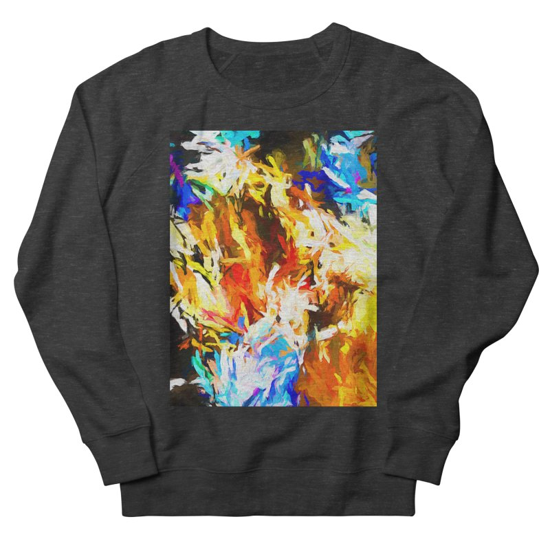 Tsunami Lion Men's French Terry Sweatshirt by jackievano's Artist Shop