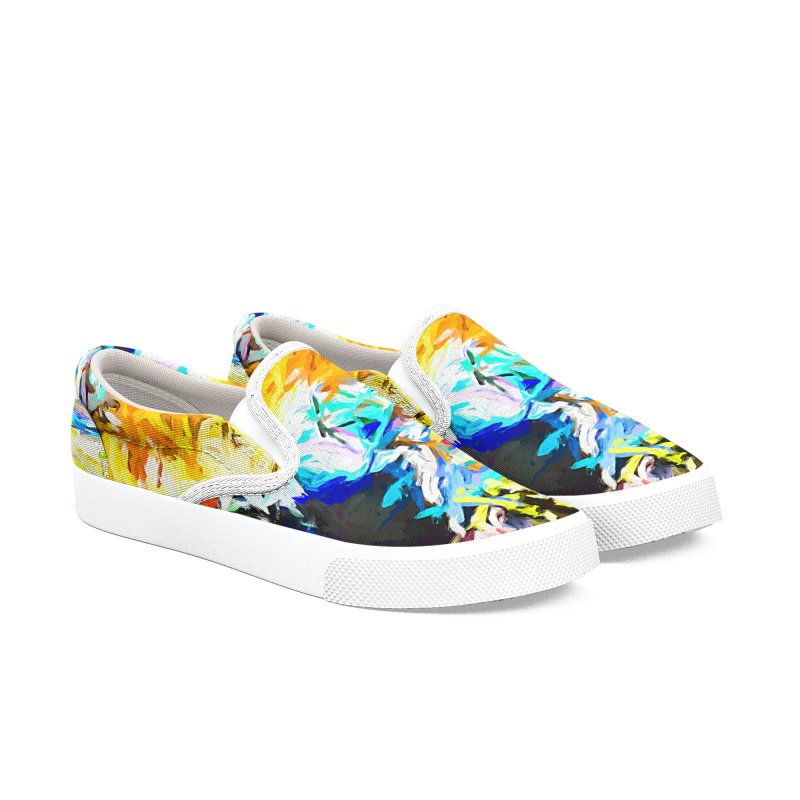 Green Man Boogie Women's Slip-On Shoes by jackievano's Artist Shop