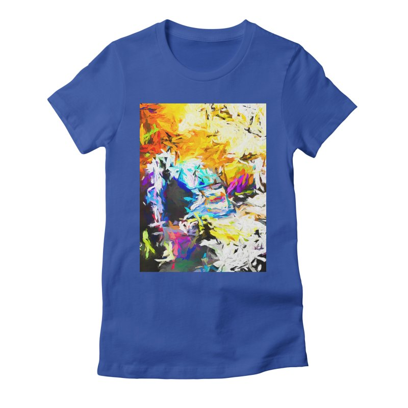 Green Man Boogie Women's Fitted T-Shirt by jackievano's Artist Shop