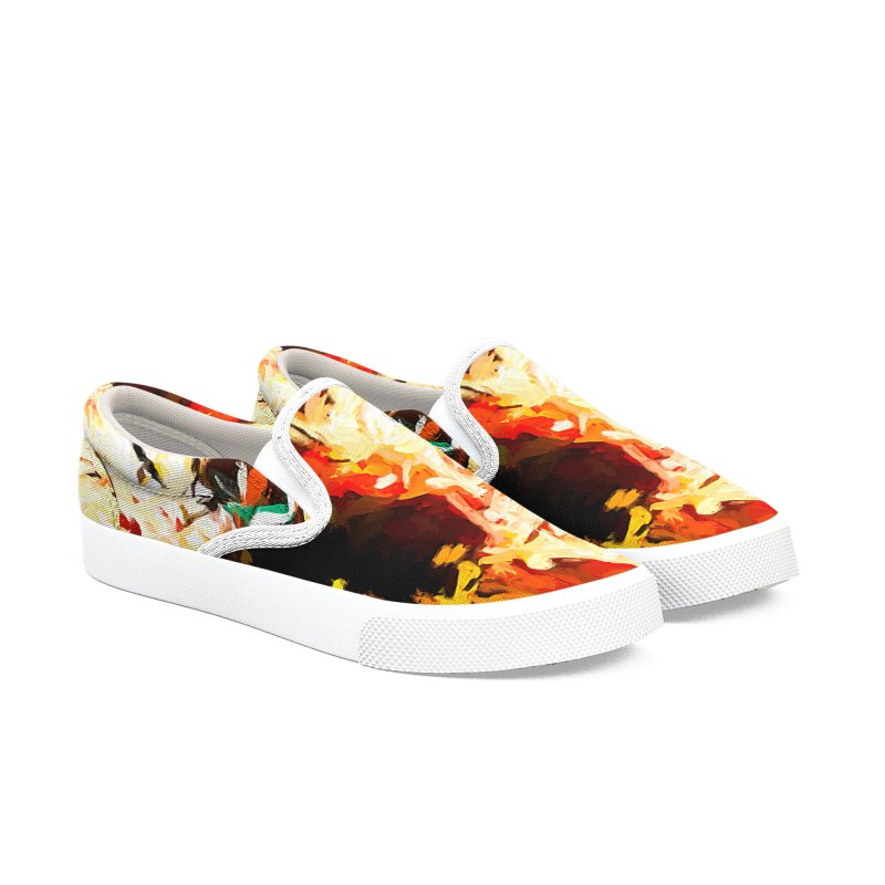 Bull Soul Men's Slip-On Shoes by jackievano's Artist Shop