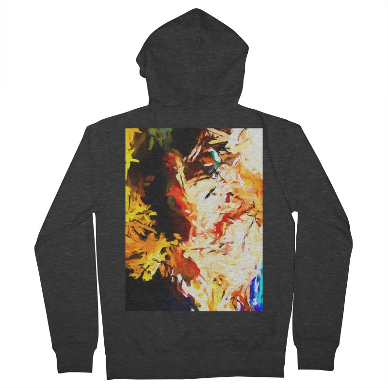 Bull Soul Men's French Terry Zip-Up Hoody by jackievano's Artist Shop
