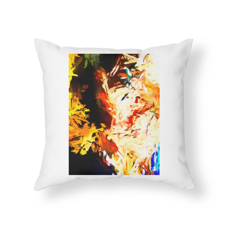 Bull Soul Home Throw Pillow by jackievano's Artist Shop