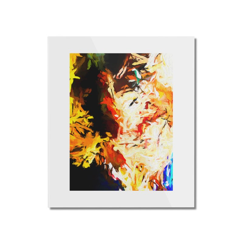 Bull Soul Home Mounted Acrylic Print by jackievano's Artist Shop