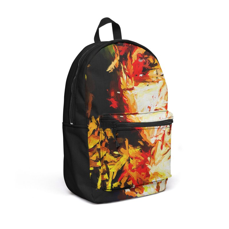 Fire Bull Soul Accessories Backpack Bag by jackievano's Artist Shop
