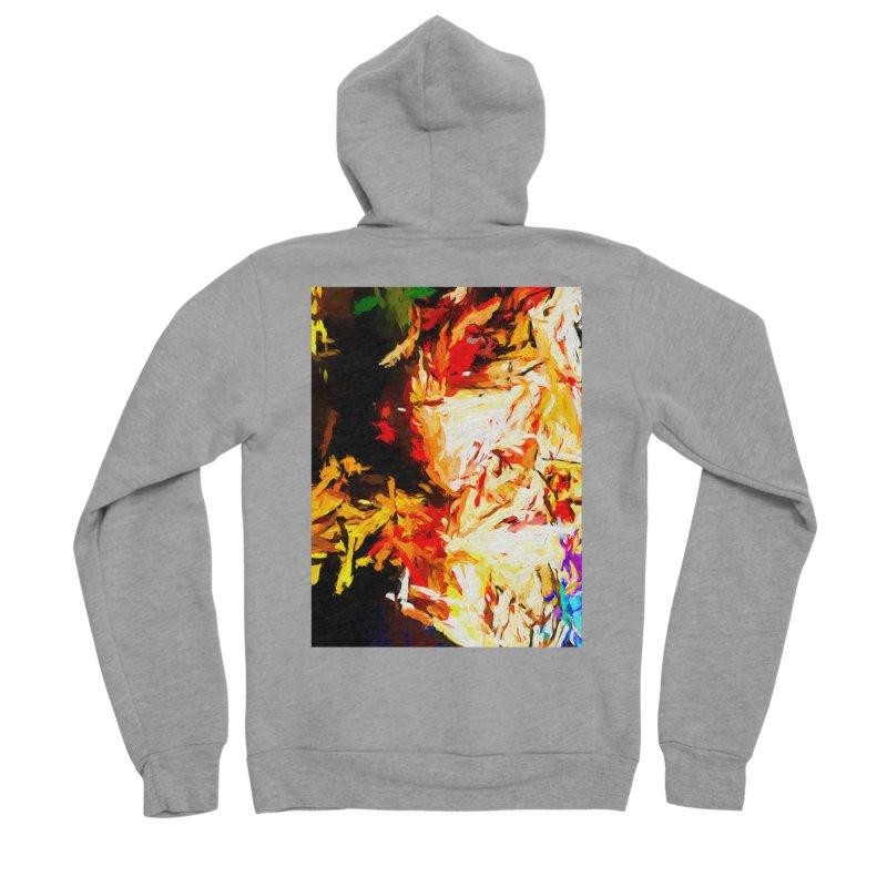 Fire Bull Soul Women's Sponge Fleece Zip-Up Hoody by jackievano's Artist Shop