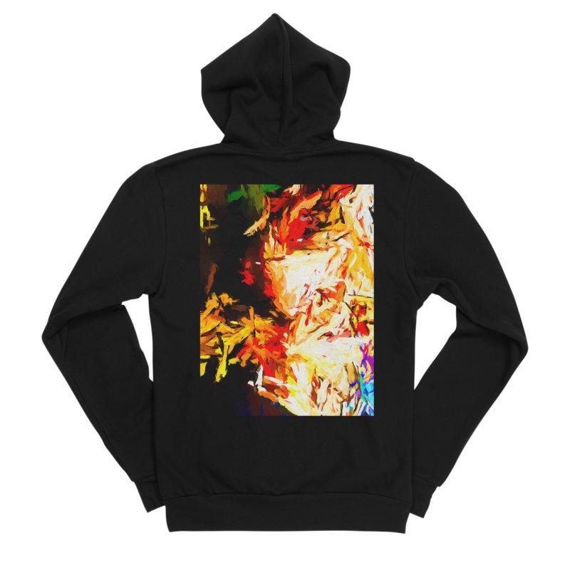 Fire Bull Soul Men's Sponge Fleece Zip-Up Hoody by jackievano's Artist Shop
