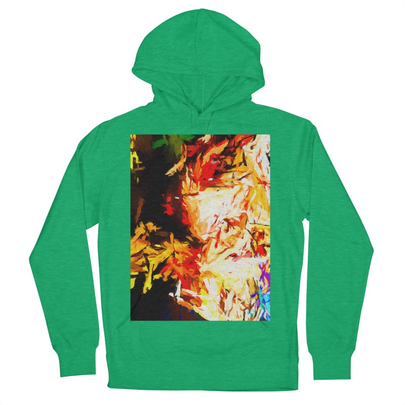 Fire Bull Soul Men's French Terry Pullover Hoody by jackievano's Artist Shop