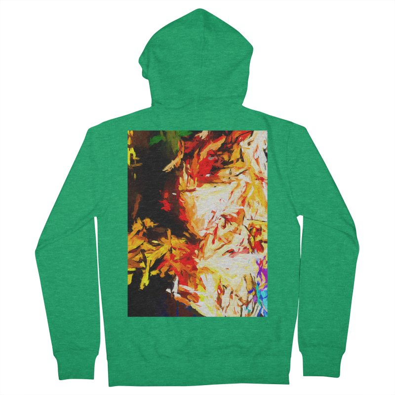 Fire Bull Soul Women's French Terry Zip-Up Hoody by jackievano's Artist Shop