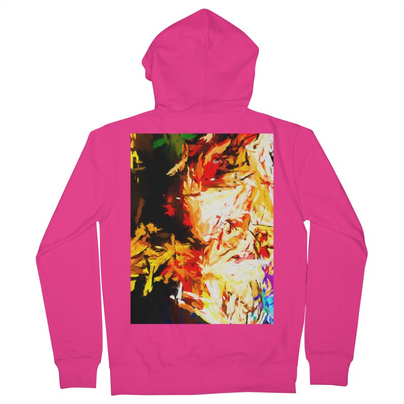 Fire Bull Soul Men's French Terry Zip-Up Hoody by jackievano's Artist Shop