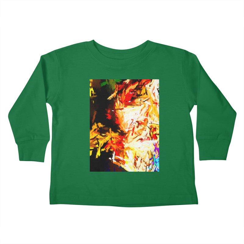 Fire Bull Soul Kids Toddler Longsleeve T-Shirt by jackievano's Artist Shop