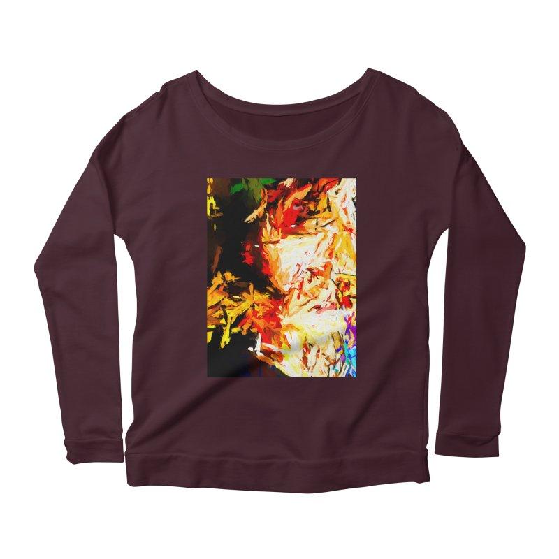 Fire Bull Soul Women's Scoop Neck Longsleeve T-Shirt by jackievano's Artist Shop