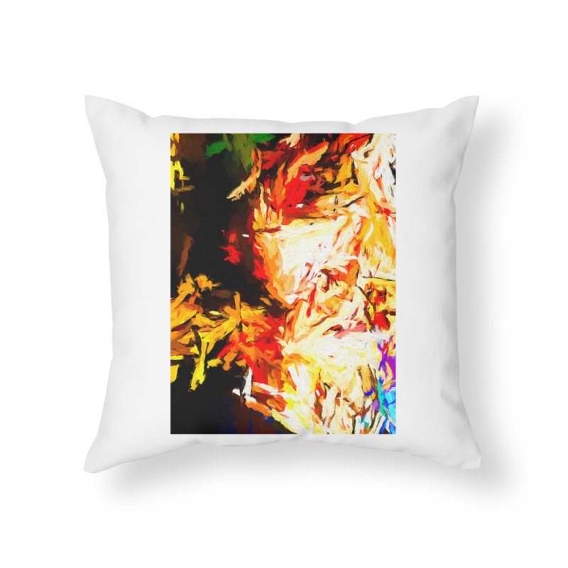 Fire Bull Soul Home Throw Pillow by jackievano's Artist Shop