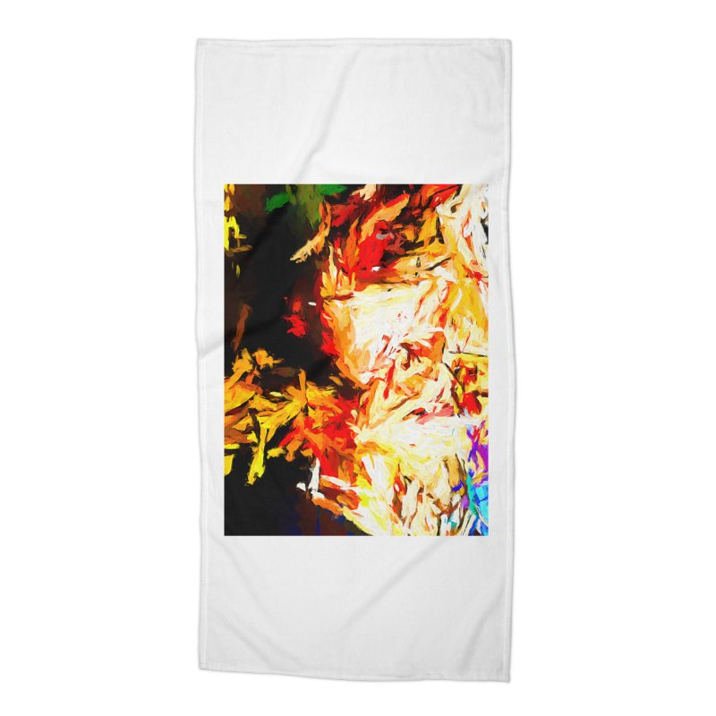 Fire Bull Soul Accessories Beach Towel by jackievano's Artist Shop