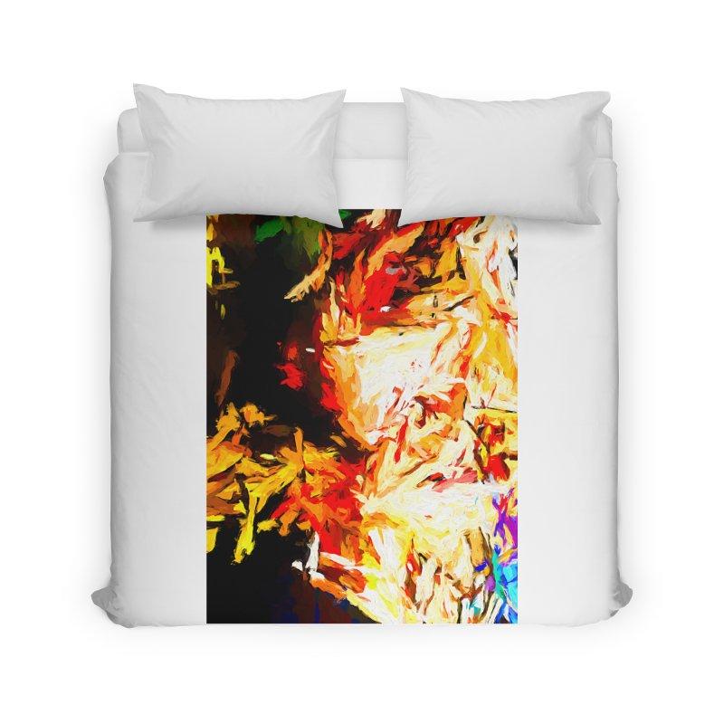 Fire Bull Soul Home Duvet by jackievano's Artist Shop