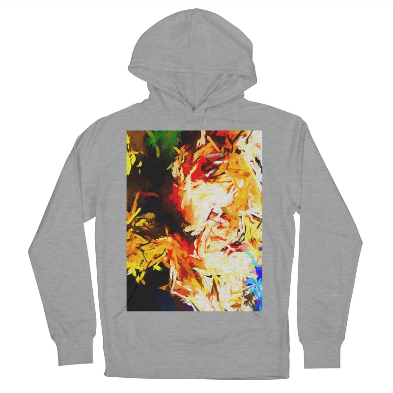 Fire Bull Scream Women's French Terry Pullover Hoody by jackievano's Artist Shop