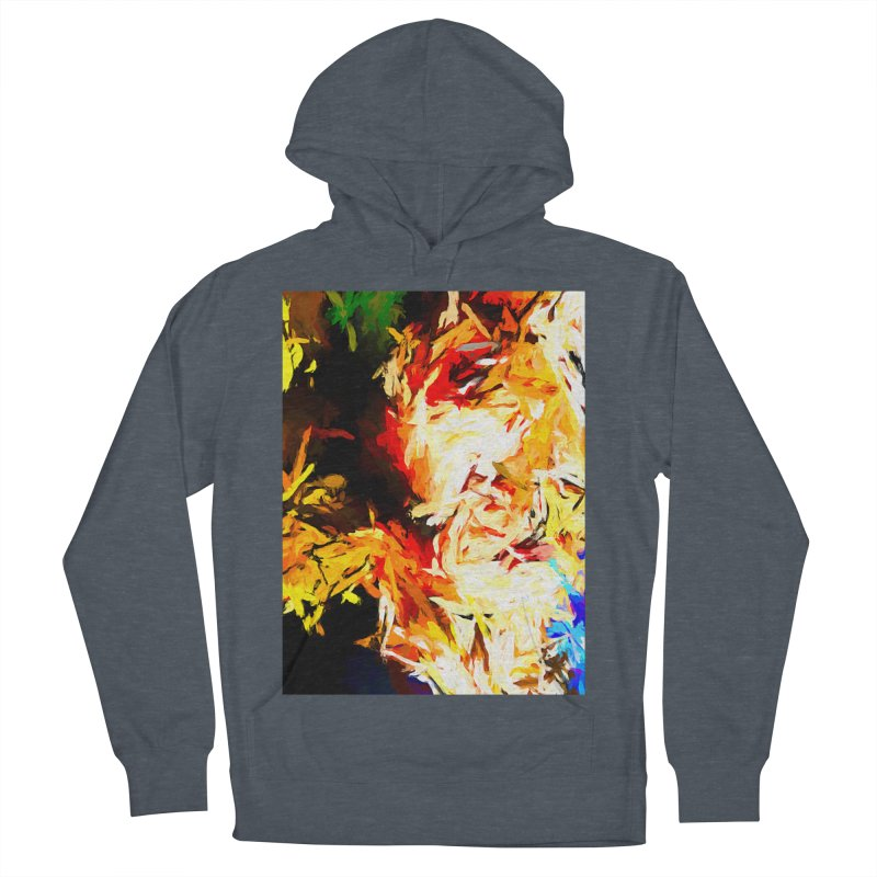 Fire Bull Scream Men's French Terry Pullover Hoody by jackievano's Artist Shop